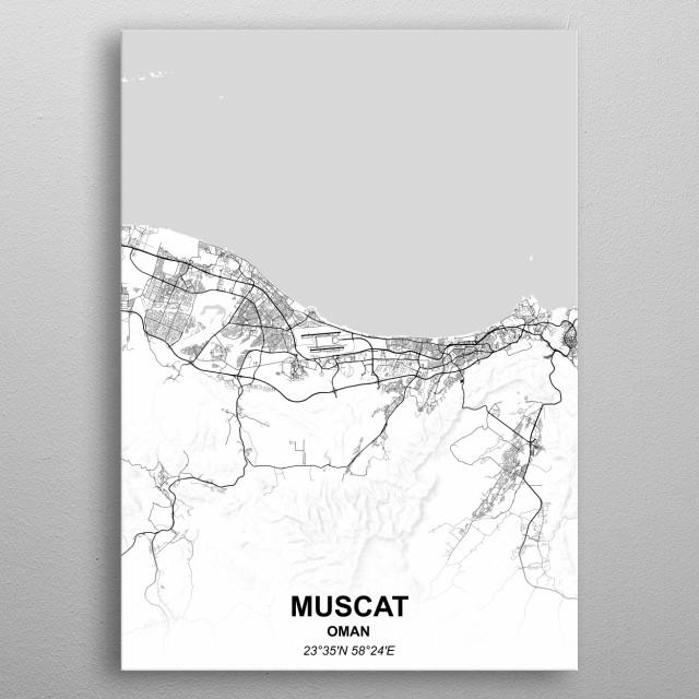 MUSCAT - OMAN metal poster