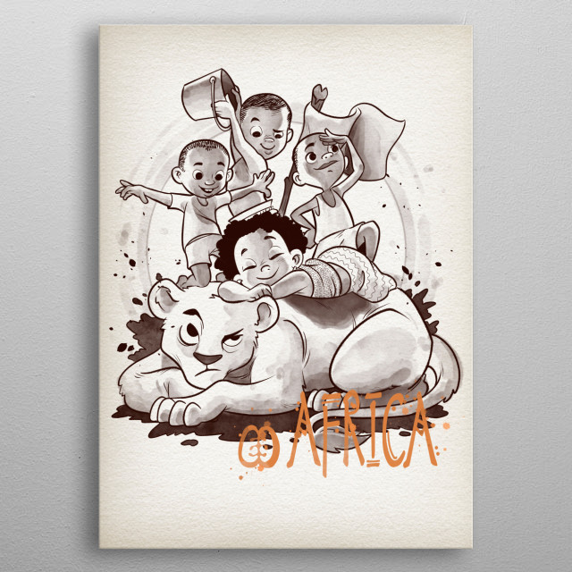 Friendship is happiness metal poster