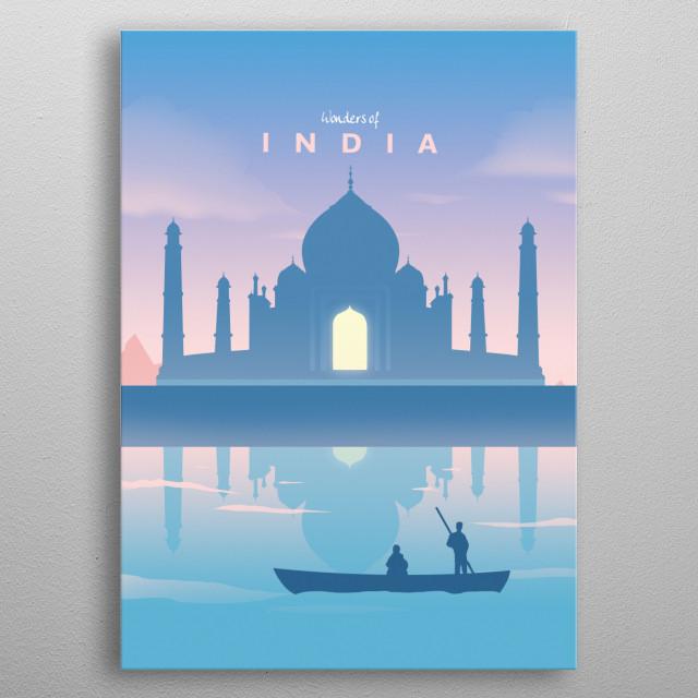 Wonders of India metal poster
