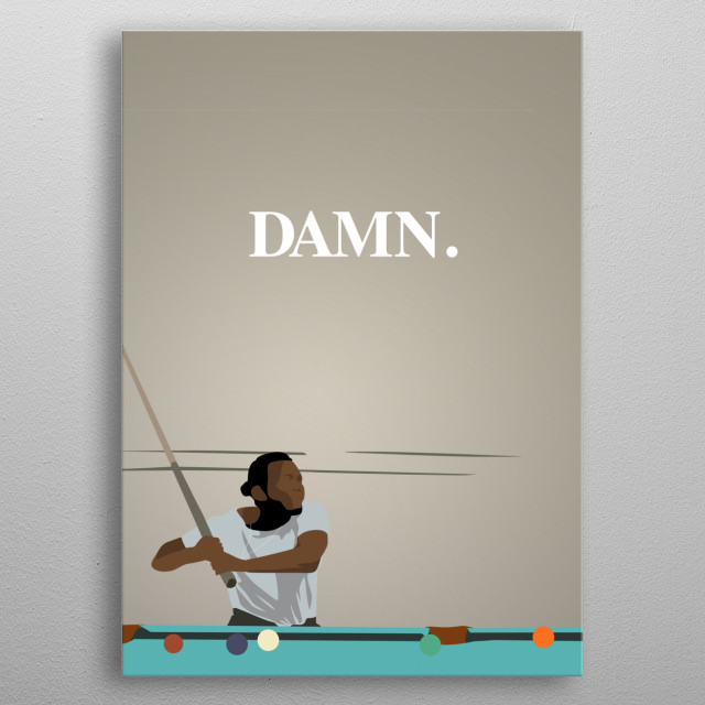 A shot from a music video from Kendrick Lamar metal poster