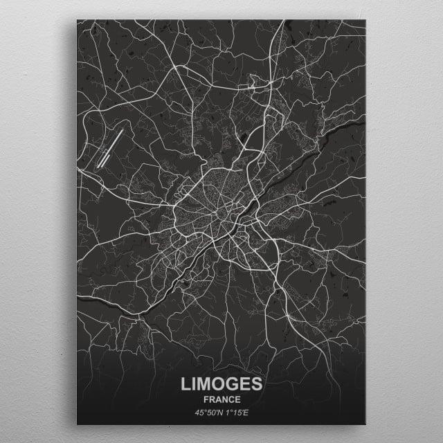 LIMOGES  FRANCE metal poster