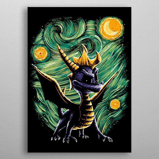 Spyro + Starry Night! metal poster