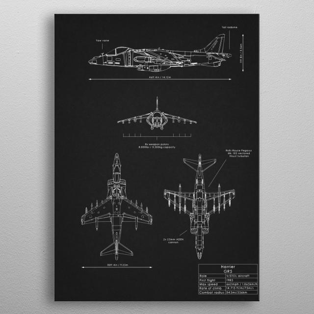 Harrier GR5 metal poster