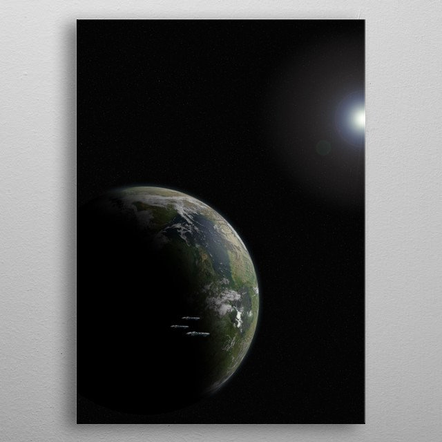 Gethanu a lush garden world roughly 800 lightyears from Earth metal poster
