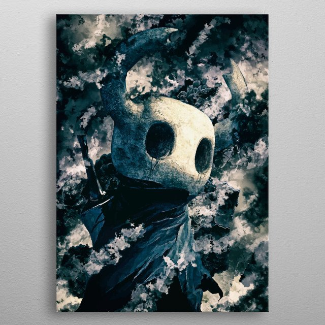 Hollow Knight is one of the best minimalist games in the last decade, with outstanding art director and very refined gameplay. metal poster