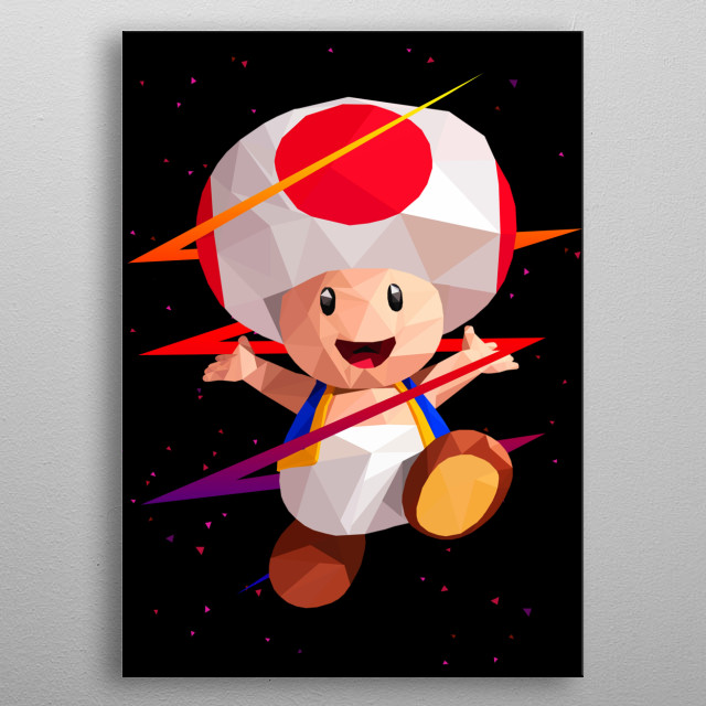 Low Poly Art - Toad metal poster