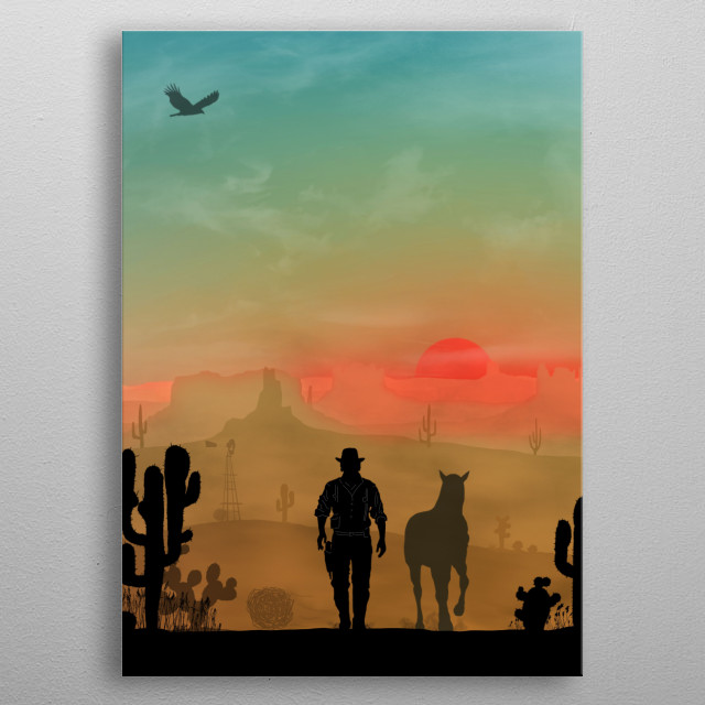 Warriors Landscapes displate poster made out of metal. Gaming poster. metal poster