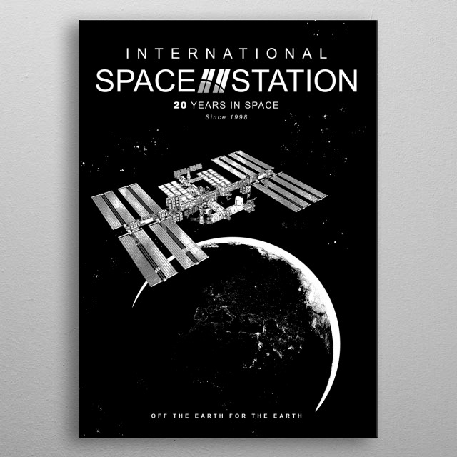 ISS-International Space Station-NASA-ESA-Soyuz-Space Shuttle-Astronomy metal poster