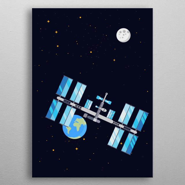 ISS metal poster