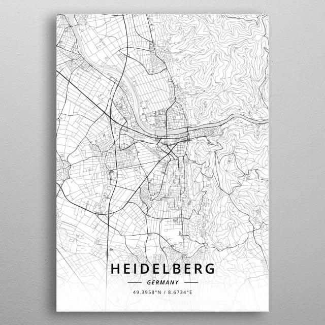 Heidelberg Germany metal poster
