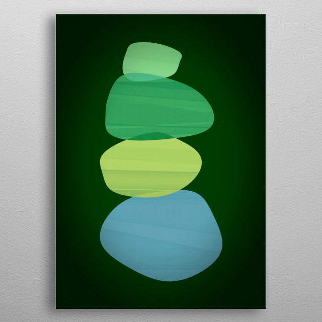 Abstract minimalist design by R. Trickett. metal poster
