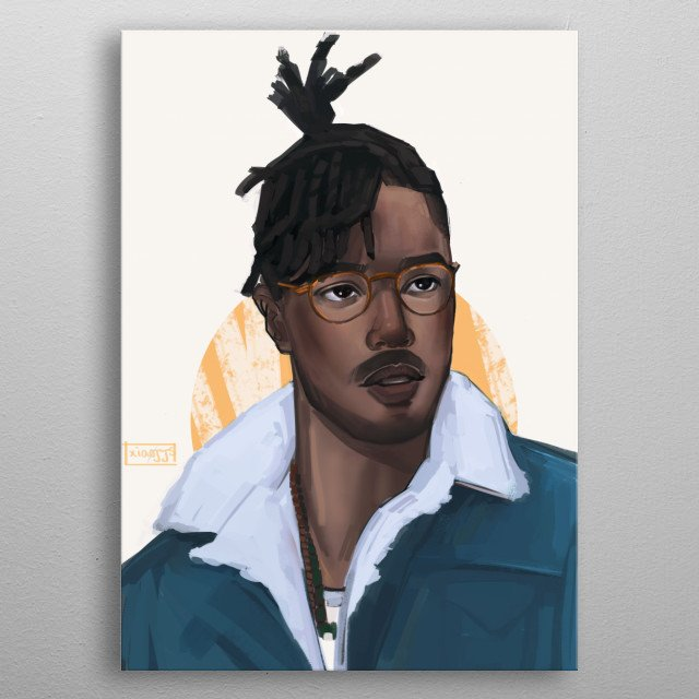 King Killmonger from Black Panther! metal poster