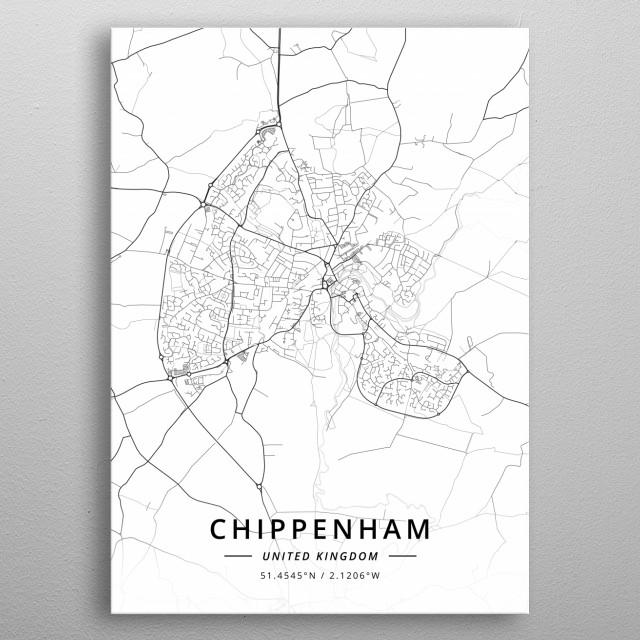 Chippenham United Kingdom metal poster