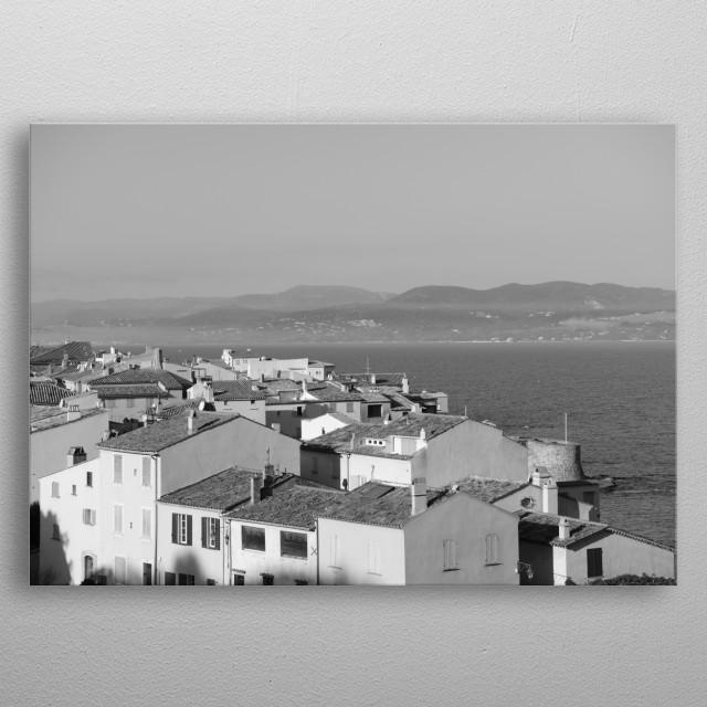 Nice view on Saint-Tropez by Tom Vandenhende metal poster