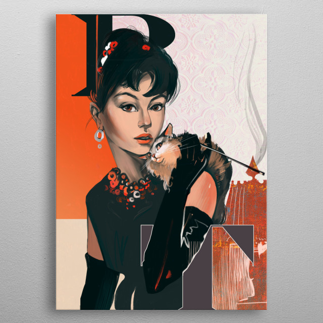 Breakfast at Tiffany's Holly Golightly metal poster