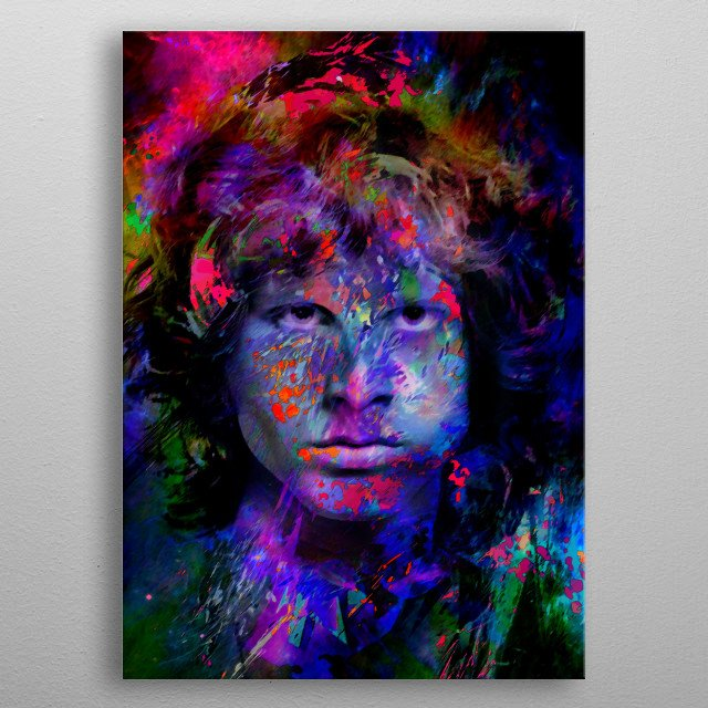 Jim Morrison - inspiration from The Doors metal poster