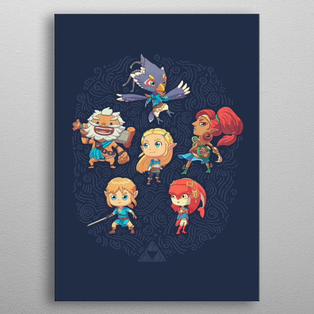 This cute little chosen heroes will save the world! metal poster