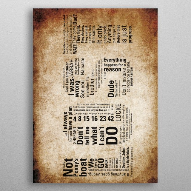 All the quotes that marked an era. metal poster