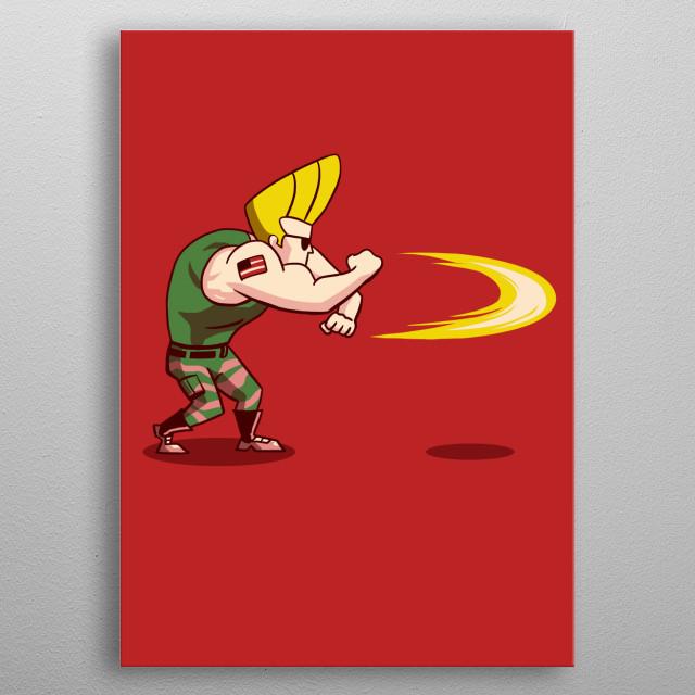 Johnny B x Guile = Sonic Bravo! metal poster