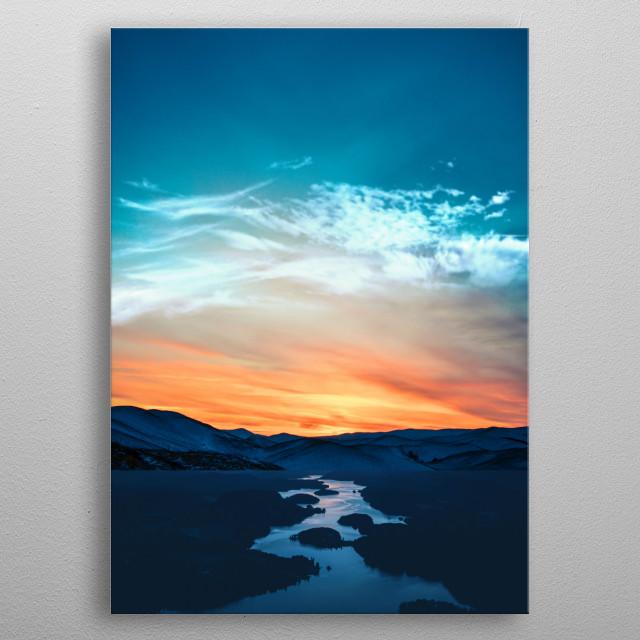 Beautiful sunset  metal poster