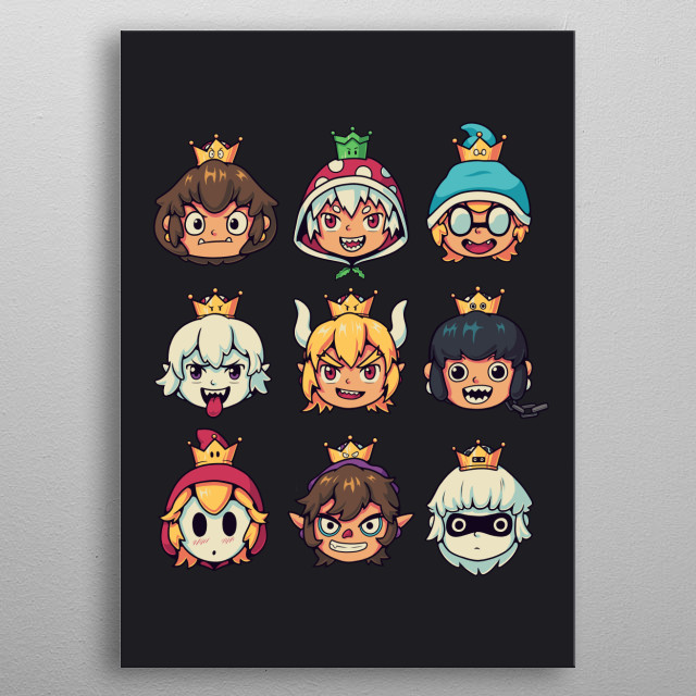 Choose your waifu! She might love you... or kill you. They are cute, but they're also evil :3. metal poster
