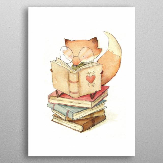 Book Lover metal poster