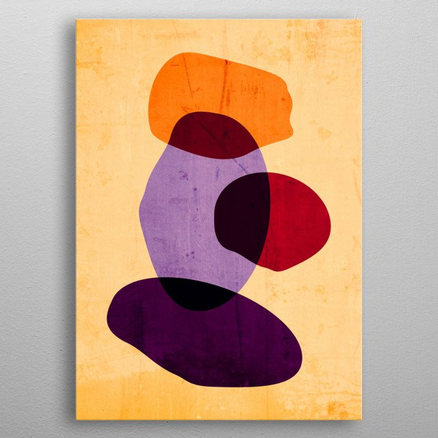 Abstract geometric design by R. Trickett. metal poster
