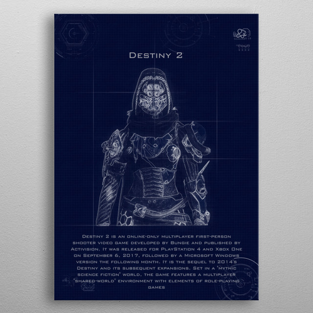 destiny 2 blueprint metal poster
