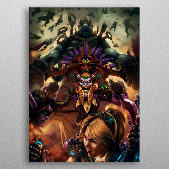 Fan Art for Heroes of the storm character nazeebo. metal poster