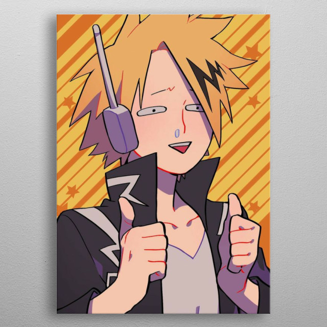 Denki Kaminari. Student from class 1-A from UA.  metal poster