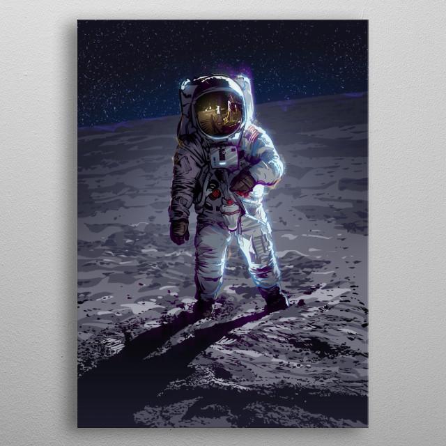 Apollo 11 metal poster