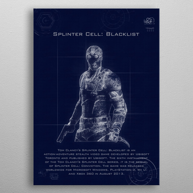 Splinter cell blueprints metal poster