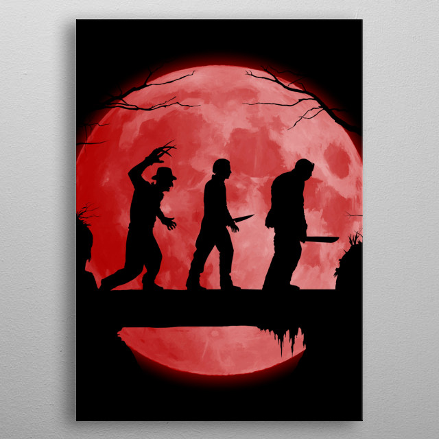 For Horror movies fans! metal poster