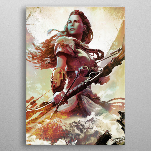 Hunter Girl metal poster