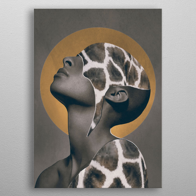 African Beauty metal poster