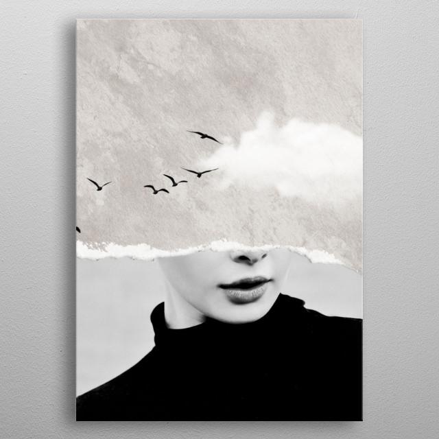 minimal collage /silence metal poster