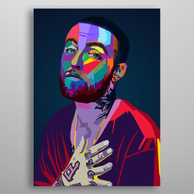Mac Miller WPAP Pop Art metal poster