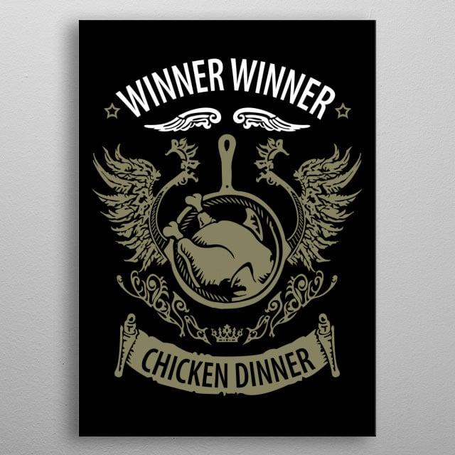 winner winner chicken dinner pubg game metal poster