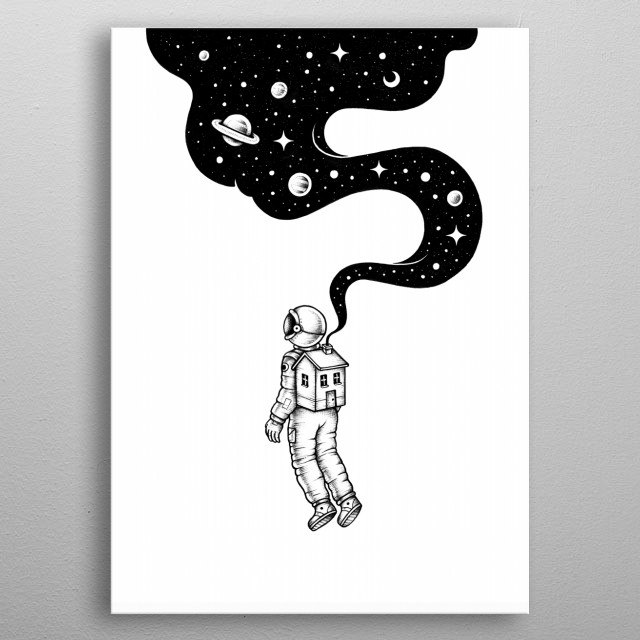 Fascinating metal poster designed by Enkel Dika. Displate has a unique signature and hologram on the back to add authenticity to each design. metal poster