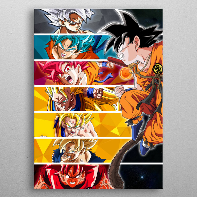 All the transformations in one frame! metal poster