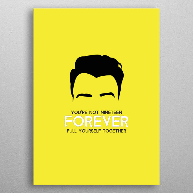 The Courteeners with Not Nineteen Forever lyrics on Yellow. metal poster