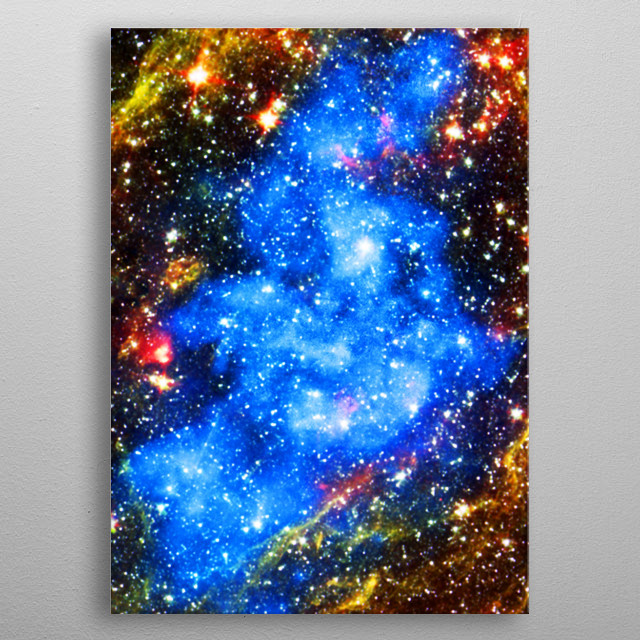 Digital painting of stars and space dust metal poster