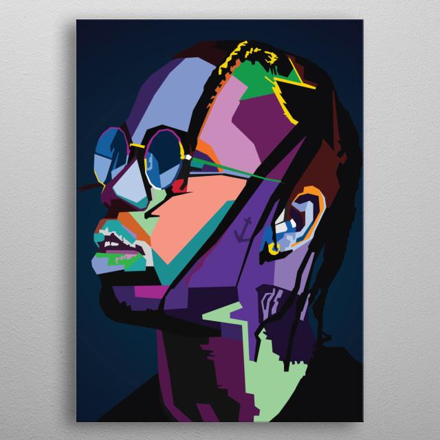 Travis Scott WPAP Pop Art metal poster