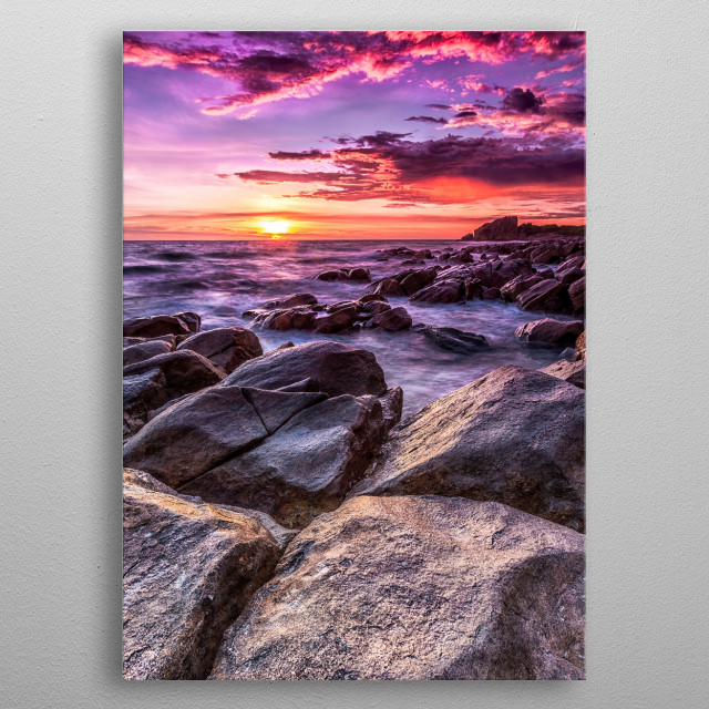 Sunrise at Castle Rock near Dunsborough WA metal poster