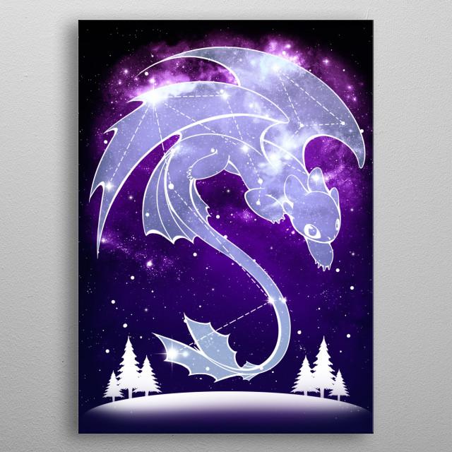 Starry Light Sky  metal poster