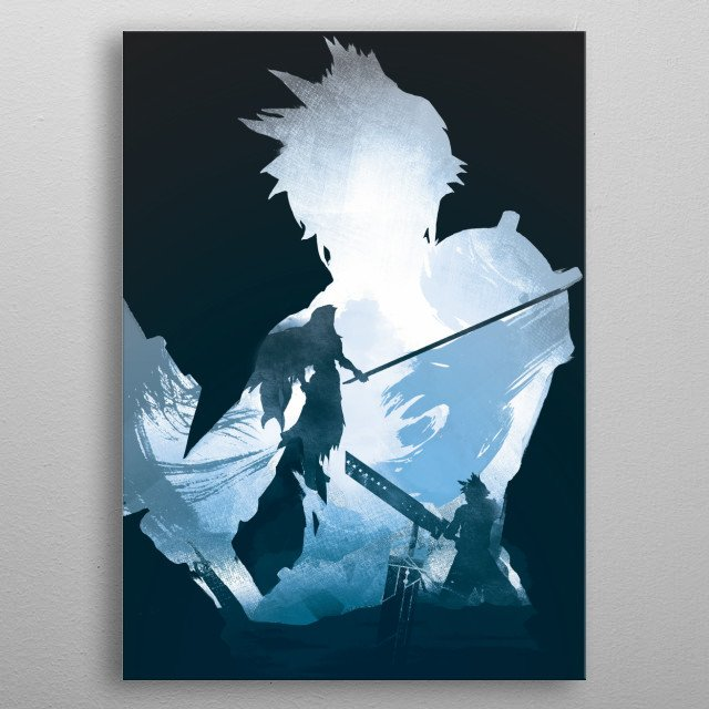 Buster blade final fantasy metal poster