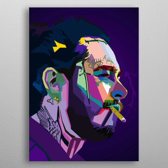 Post Malone WPAP Pop Art metal poster