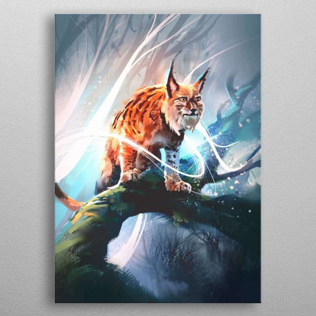 I wanted to give lynx some magic :) metal poster