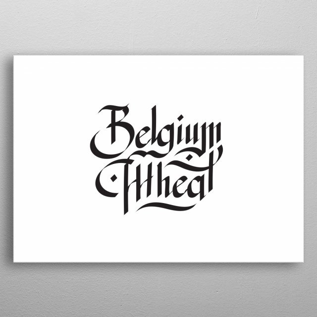 Handmade lettering of a well known beer style. metal poster