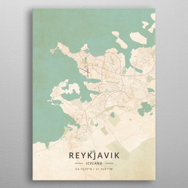 Reykjavik, Iceland metal poster